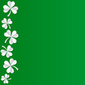 Irish shamrock leaves background for Happy St. Patrick`s Day. EPS 10. Ecology concept. Royalty Free Stock Photo