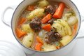 Irish stew in enamel pot Royalty Free Stock Photography
