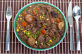 Irish stew hearty and traditional in a bowl ready to eat Stock Image