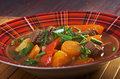 Irish stew with tender lamb meat farm style potatoes and vegetables Royalty Free Stock Photography