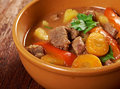 Irish stew with tender lamb meat farm style potatoes and vegetables Stock Photo