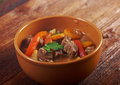 Irish stew with tender lamb meat farm style potatoes and vegetables Royalty Free Stock Photos