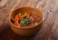 Irish stew with tender lamb meat farm style potatoes and vegetables Royalty Free Stock Images
