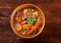 Irish stew with tender lamb meat farm style potatoes and vegetables Stock Image