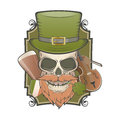 Irish vintage skull illustration of an Royalty Free Stock Image