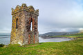 Irish watch tower over Dingle Bay Royalty Free Stock Photo