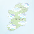 Irish Weather Forecast Royalty Free Stock Photo