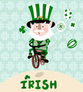 Irishman illustration a sweet irish man celebrating st patricks day Stock Photography