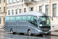 Irizar pb saint petersburg russia may grey interurban coach at the city street Royalty Free Stock Image
