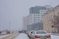 Irkutsk. Winter. Architecture Royalty Free Stock Photo