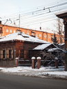 Irkutsk winter architecture the city Stock Images