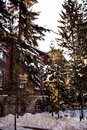 Irkutsk winter architecture the city Stock Image