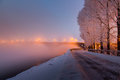 Irkutsk winter promenade Royalty Free Stock Photo