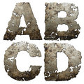 Iron alphabet. Stock Image