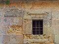 Iron Bars In Old Window