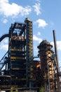 Iron blast furnaces Royalty Free Stock Photo