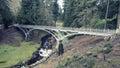 The Iron Bridge at Cragside, Northumberland Royalty Free Stock Photo