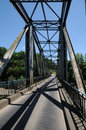 Iron bridge of lacave in lot france the Stock Photography