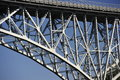 Iron bridge over the washington ship canal in seattle Stock Photo