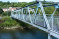 Iron bridge an spanning a river Stock Photography