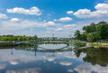 Iron bridge in the Tsaritsyno park in Moscow - 4 Royalty Free Stock Photo