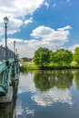 Iron bridge in the Tsaritsyno park in Moscow Royalty Free Stock Photo