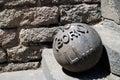 Iron cannon ball Royalty Free Stock Photo