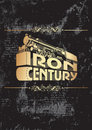 Iron century_golden Royalty Free Stock Photo
