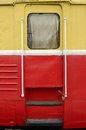 The iron door of the train. Royalty Free Stock Photo