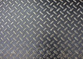 Iron floor surface photo. Metal relief for walking path in construction area Royalty Free Stock Photo