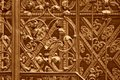Iron forged grid Stock Photo