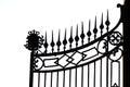 Photo : Iron gate bay gate blacksmith