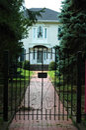 Iron Gate House Entrance Stock Photo