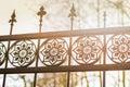 Photo : Iron gate  lanterns
