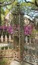 Iron gate post Royalty Free Stock Photo