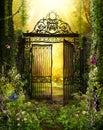 Iron Gateway to a Secret Garden Royalty Free Stock Photo