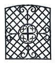 Iron grille old decorative wrought isolated on white background Stock Images