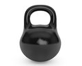 Iron kettlebell for weightlifting and fitness black on a white background Stock Images