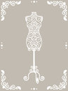 Iron mannequin vintage wrought in floral frame Stock Photography
