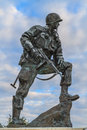 Iron mike statue in normandy france commemorating us airborne soldiers during invasion Stock Photo