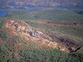 Iron ore mine Royalty Free Stock Photo