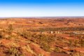 Iron ore mine mount newman showing train western australia Royalty Free Stock Image