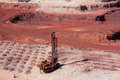 Iron ore mining Stock Photos