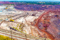 Iron ore mining in Mikhailovsky field within Kursk Magnetic Anom Royalty Free Stock Photo