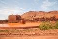 Iron ore mining operations Royalty Free Stock Photo
