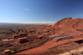 Iron ore mining operations Pilbara region Western Australia Royalty Free Stock Photo