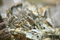 Iron pyrite is an iron sulfide with the chemical formula fes or macro beautiful fantastic background for successful your Stock Image