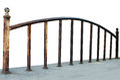 Iron railing old on white Stock Photography