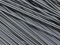 Iron reinforcement rods in the background Royalty Free Stock Photo