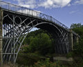 Iron ridge the bridge ironbridge shropshire uk Royalty Free Stock Photo
